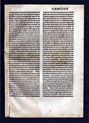Blatt CXXXIIII Inkunabel Vita Christi Zwolle incunable Dutch Holland