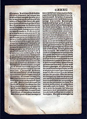 Blatt CXXXV Inkunabel Vita Christi Zwolle incunable Dutch Holland