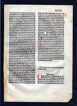 Blatt XVII Inkunabel Vita Christi Zwolle incunable Dutch Holland