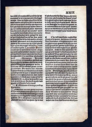 Blatt XXII Inkunabel Vita Christi Zwolle incunable Dutch Holland