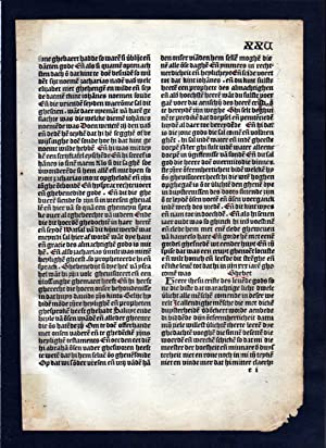 Blatt XXV Inkunabel Vita Christi Zwolle incunable Dutch Holland