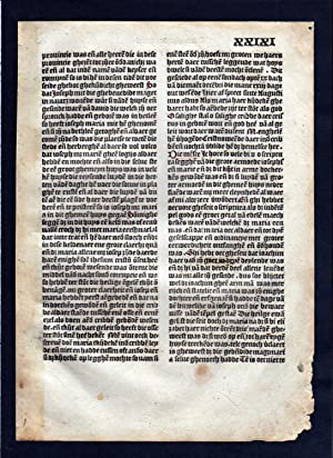 Blatt XXIXI Inkunabel Vita Christi Zwolle incunable Dutch Holland