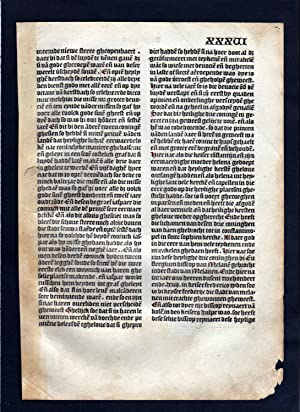 Blatt XXXVI Inkunabel Vita Christi Zwolle incunable Dutch Holland