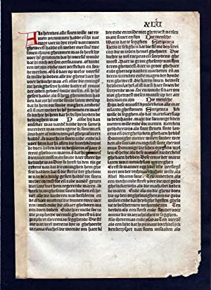 Blatt XLV Inkunabel Vita Christi Zwolle incunable Dutch Holland