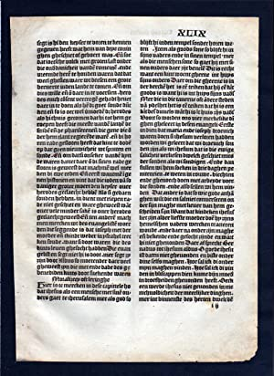 Blatt XLIX Inkunabel Vita Christi Zwolle incunable Dutch Holland