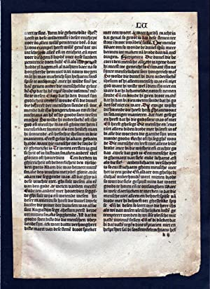 Blatt LV Inkunabel Vita Christi Zwolle incunable Dutch Holland
