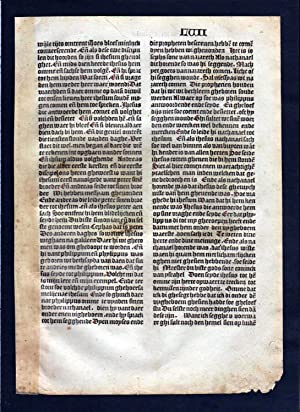 Blatt LVII Inkunabel Vita Christi Zwolle incunable Dutch Holland