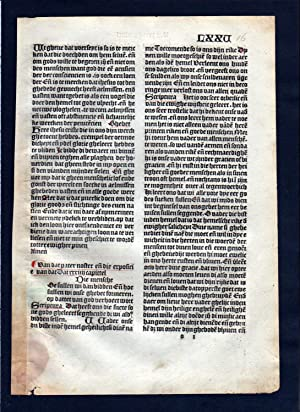 Blatt LXXV Inkunabel Vita Christi Zwolle incunable Dutch Holland