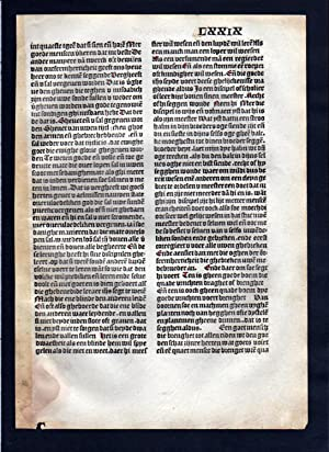 Blatt LXXIX Inkunabel Vita Christi Zwolle incunable Dutch Holland