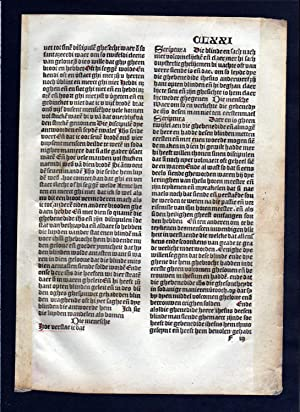 Blatt CLXXI Inkunabel Vita Christi Zwolle incunable Dutch Holland