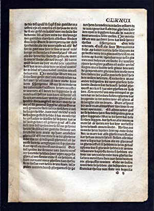 Blatt CLXXVI Inkunabel Vita Christi Zwolle incunable Dutch Holland