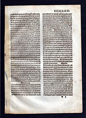 Blatt CLXXXII Inkunabel Vita Christi Zwolle incunable Dutch Holland