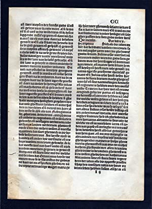 Blatt CC Inkunabel Vita Christi Zwolle incunable Dutch Holland