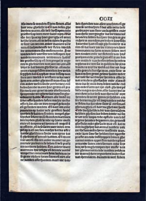 Blatt CCII Inkunabel Vita Christi Zwolle incunable Dutch Holland