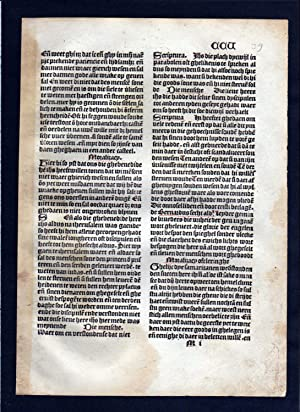 Blatt CCV Inkunabel Vita Christi Zwolle incunable Dutch Holland