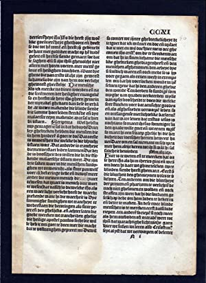 Blatt CCXI Inkunabel Vita Christi Zwolle incunable Dutch Holland