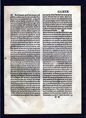 Blatt CCXIX Inkunabel Vita Christi Zwolle incunable Dutch Holland