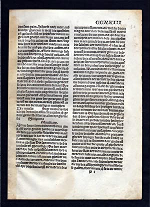 Blatt CCXXIII Inkunabel Vita Christi Zwolle incunable Dutch Holland