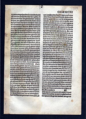 Blatt CCXXVII Inkunabel Vita Christi Zwolle incunable Dutch Holland