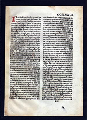 Blatt CCXXXVI Inkunabel Vita Christi Zwolle incunable Dutch Holland