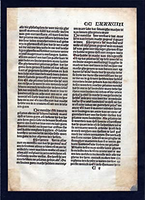 Blatt CCLXXXVIII Inkunabel Vita Christi Zwolle incunable Dutch Holland
