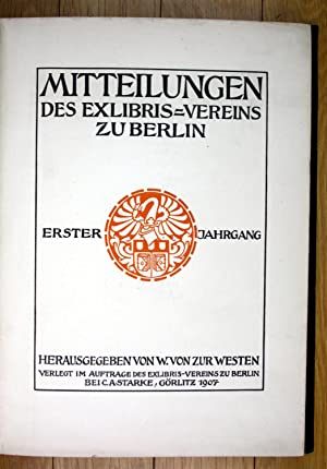 Mitteilungen des Exlibris Vereins zu Berlin: von Zur Westen,