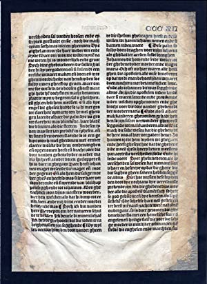 Blatt CCCXII Inkunabel Vita Christi Zwolle incunable Dutch Holland