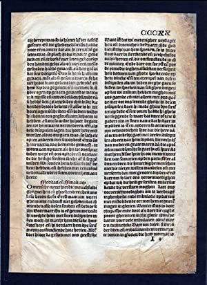 Blatt CCCXX Inkunabel Vita Christi Zwolle incunable Dutch Holland