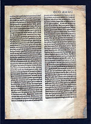Blatt CCCXXXV Inkunabel Vita Christi Zwolle incunable Dutch Holland