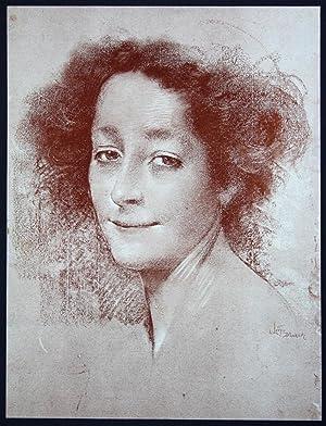 "Belle d Antan"" - femme Frau Art: Levy Dhurmer, Lucien"