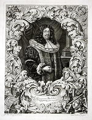 """Fridericus Volckamerus"""" - Friedrich Volckamer Kirchensittenbach Portrait: Sandrart, Jacob und"""