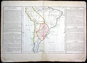 "Du Perou"" - Peru Brasil Paraguay America: Clouet, Jean Baptiste"