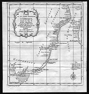 """Carte de la Coste orientale d'Afrique"""" -: Bellin, Jacques-Nicolas:"""