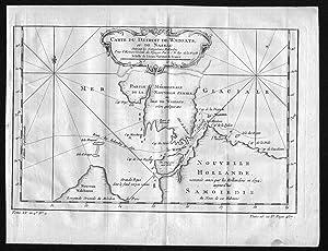 Carte du Detroit de Waeigats ou de: Bellin, Jacques-Nicolas: