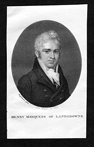 """Henry Marquess of Landsdowne"""" - Henry Petty-Fitzmaurice"""