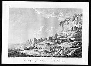 Vue de Gerace pres de l'ancienne ville: Saint Non, Jean