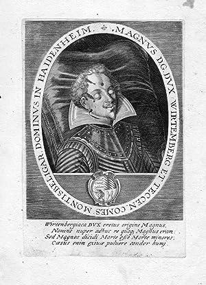 """Magnus D.G. Dux Wirtemberg et Teccen"""" -: Artist/Künstler, Anonym:"""