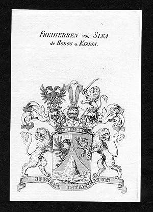 """Freiherren von Sina de Hodos u. Kizdia"""": Artist/Künstler, Anonym:"""