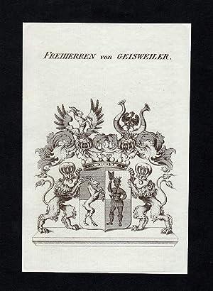 """Freiherren von Geisweiler"""" - Geisweiler Wappen Adel: Artist/Künstler, Anonym:"""