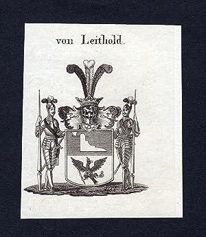 "Von Leithold"" - Leithold Wappen Adel coat: Artist/Künstler, Anonym:"