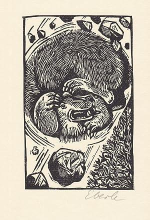 Original-Holzschnitt von Klaus Eberlein zu Herbert Plate: Eberlein, Klaus: