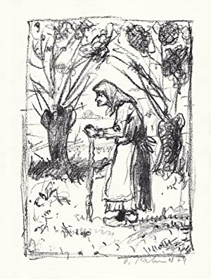Original-Lithographie von Robert Kirchner zu einem Gedicht: Kirchner, Robert: