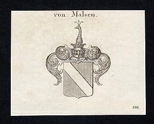 """Von Malsen"""" - Malsen Geldern Wappen Adel: Artist/Künstler, Anonym:"""