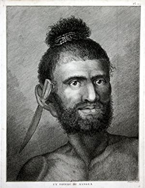 """Un Homme de Mangea"""" - Cook Islands: Cook, James:"""