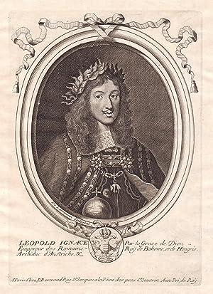 "Leopold Ignace"" - Leopold I HRR Kaiser: de Larmessin, Nicolas:"