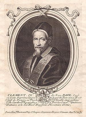 """Clement IX du Nom Pape"""" - Clemente: de Larmessin, Nicolas:"""