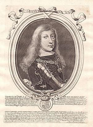 "Chalres II"" - Charles Spain Carlos II: de Larmessin, Nicolas:"