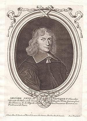 "Messire Nicolas Foucquet"" - Nicolas Fouquet Portrait: de Larmessin, Nicolas:"