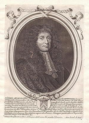 """Mre Simon Arnauld"""" - Simon Arnauld de: de Larmessin, Nicolas:"""