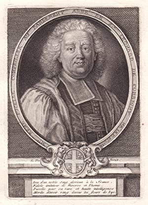 "Mre Rene Pucelle"" - Rene Pucelle magistrat: Kupferstich / engraving:"